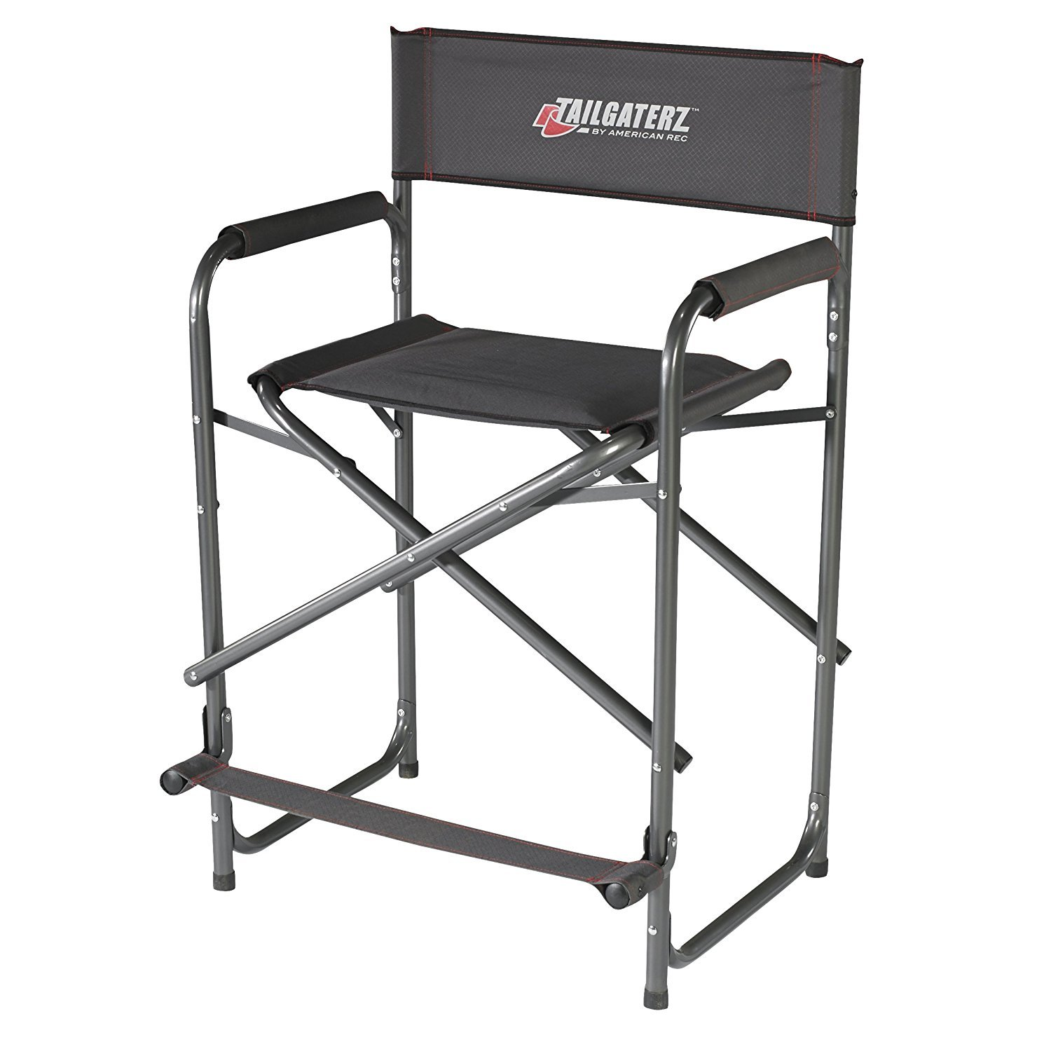 Tailgaterz Take-Out Seat Steel Chair Game Day Graphite [並行輸入品] B077QQR8BD