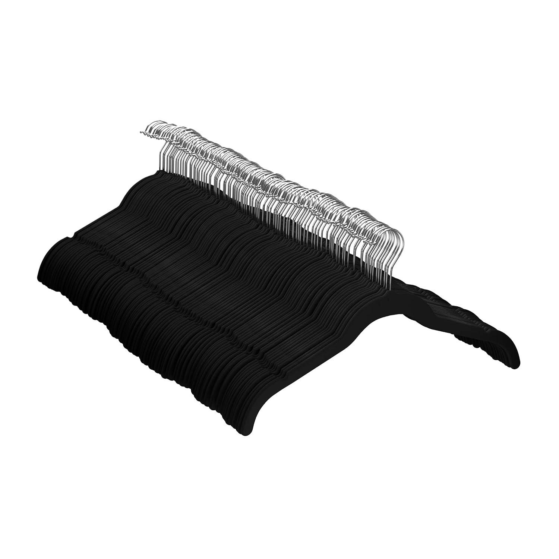 AmazonBasics Velvet Shirt/Dress Hangers, 100-Pack (Black)