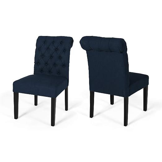 Amazon.com: Maci - Juego de 2 sillas de comedor con tapizado ...
