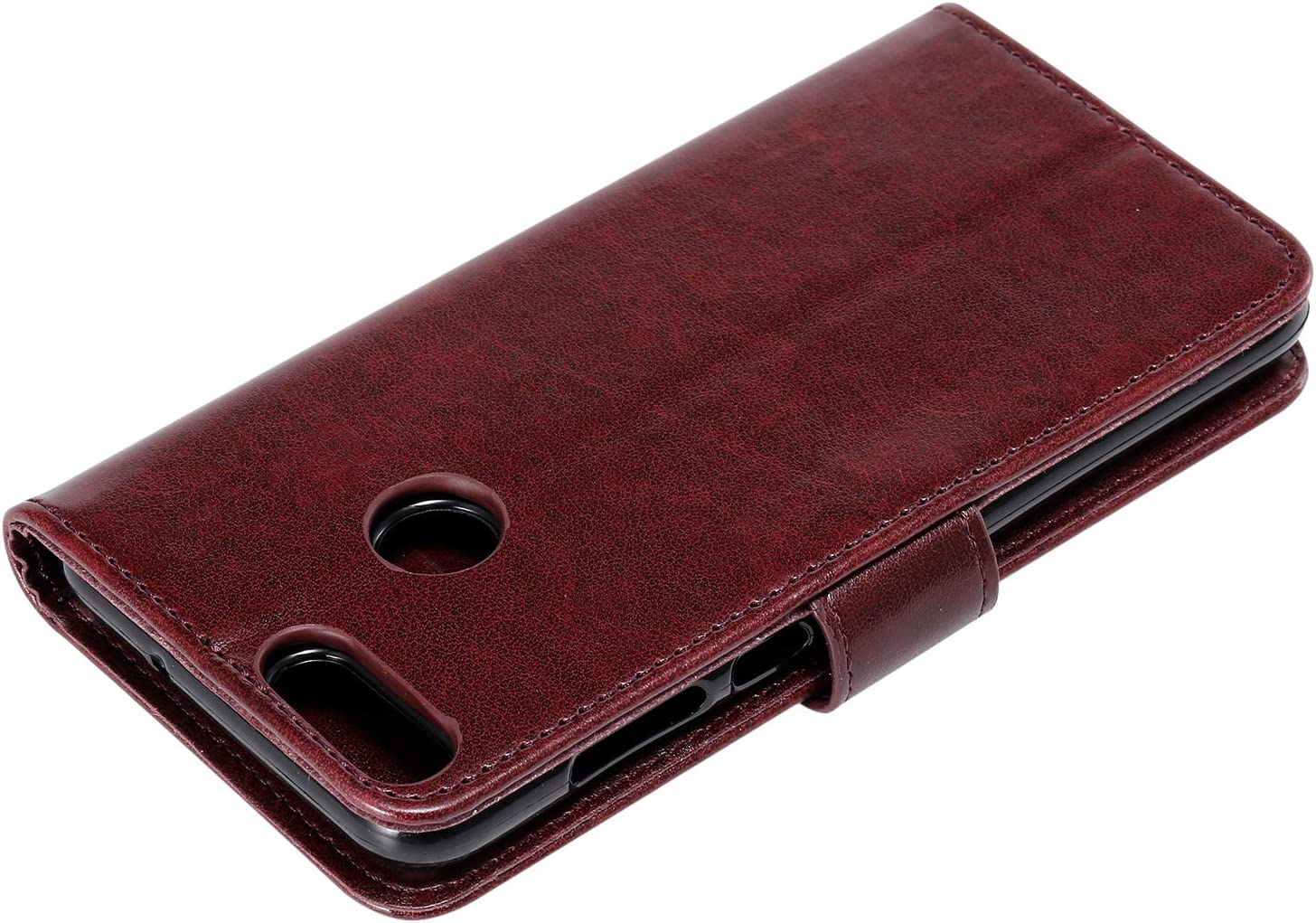 LOHHA100568 Green Lomogo Embossed Owl Huawei P Smart Case Leather Wallet Case with Kickstand Card Holder Shockproof Flip Case Cover for Huawei P Smart//nova lite 2