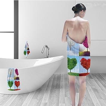 Nalahomeqq Juego de toallas de baño decoraciones mexicanas estilo Art México caligrafía tribal clásico icono en imagen de Grunge tela de baño Decor Multi: ...