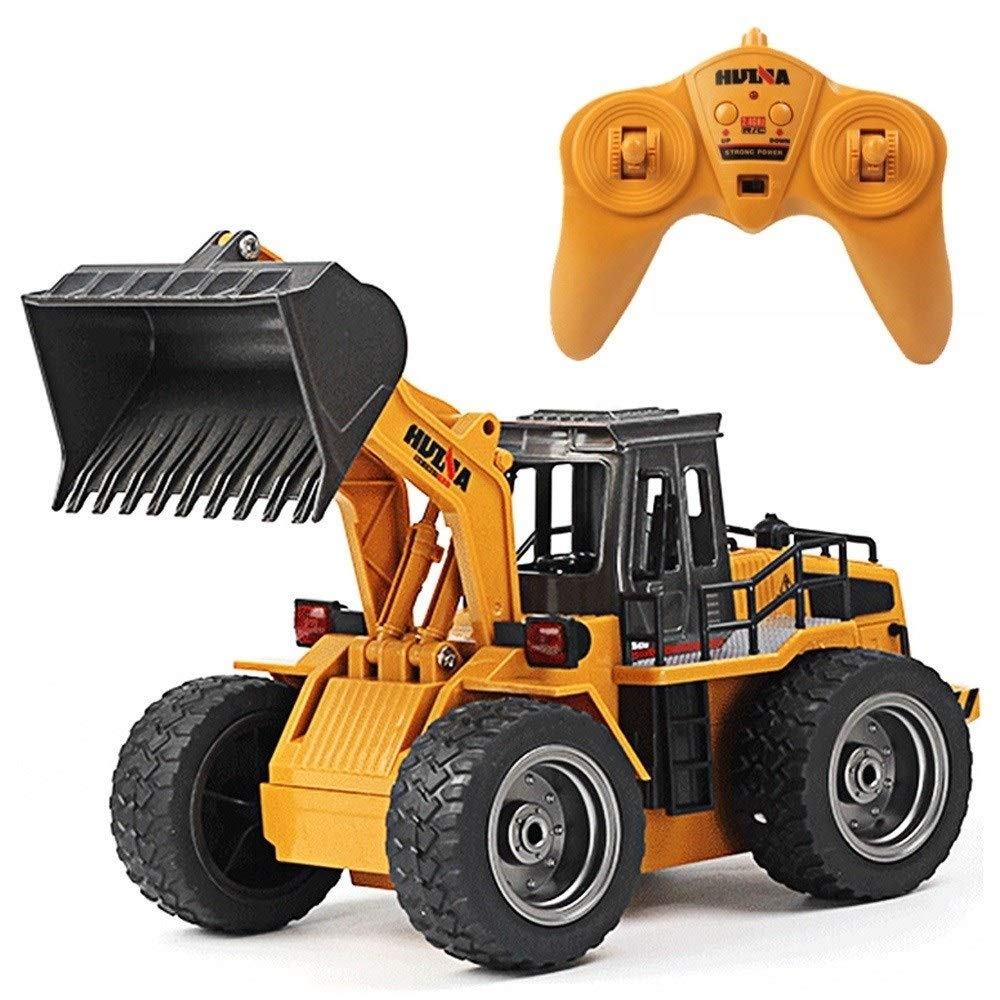 TBFEI Toy Model Remote Control Bulldozer Boy Gift Simulation Electric Engineering Vehicle Large Charging Alloy Version Forklift Birthday Gift for Kids 8+ (Size : 1-Battery)