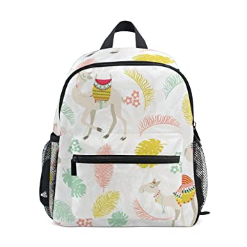 9751aade94f6 Cooper Girl Cartoon Camel Palm Leave Kids Backpack School Bookbag for Girls  Boys Teen  Amazon.co.uk  Luggage