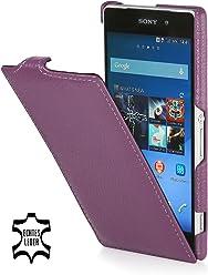 StilGut Housse UltraSlim en cuir pour Sony Xperia Z2, en pourpre