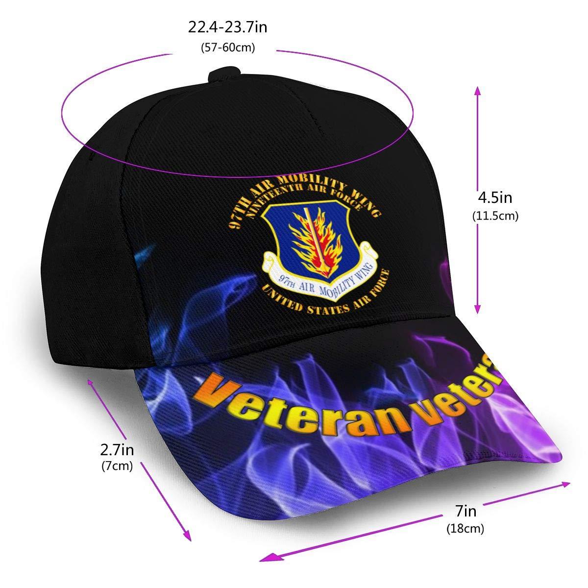 97th Air Mobility Wing Nineteenth Air Force Classic Adult Hop Printing Bend Along Baseball Hat Snapback Men Women Caps