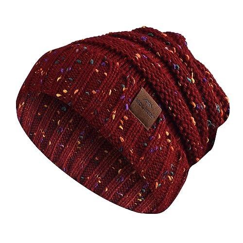 Moliker Sombrero de mujer Gorro de punto Sombrero de invierno Sombrero de lana gruesa elástico grueso Slouchy Skull Cap para mujeres