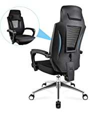mfavour Office Chair Ergonomic Mesh Chair, High Back Office Chair, Widened Headrest and 150°Tilt Function, Adjustable Seat Height and Lumbar Support, Load Capacity up to 150kg