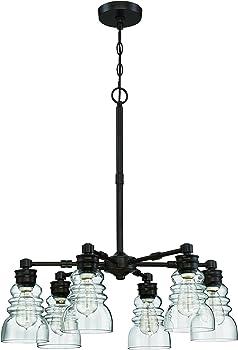 Litex 6 Light Modern Chandelier Pendant Ceiling Light Fixture