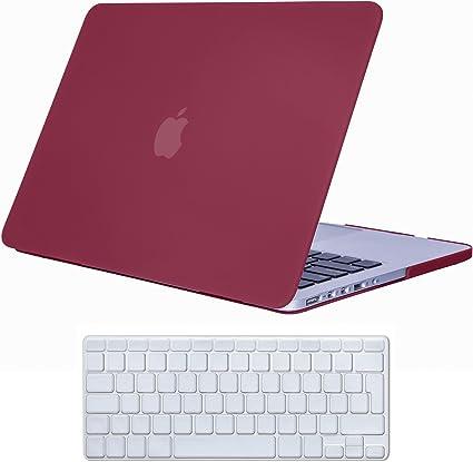 iCasso Funda MacBook Pro 13 Retina Case Vino Rojo Diseño de Color ...