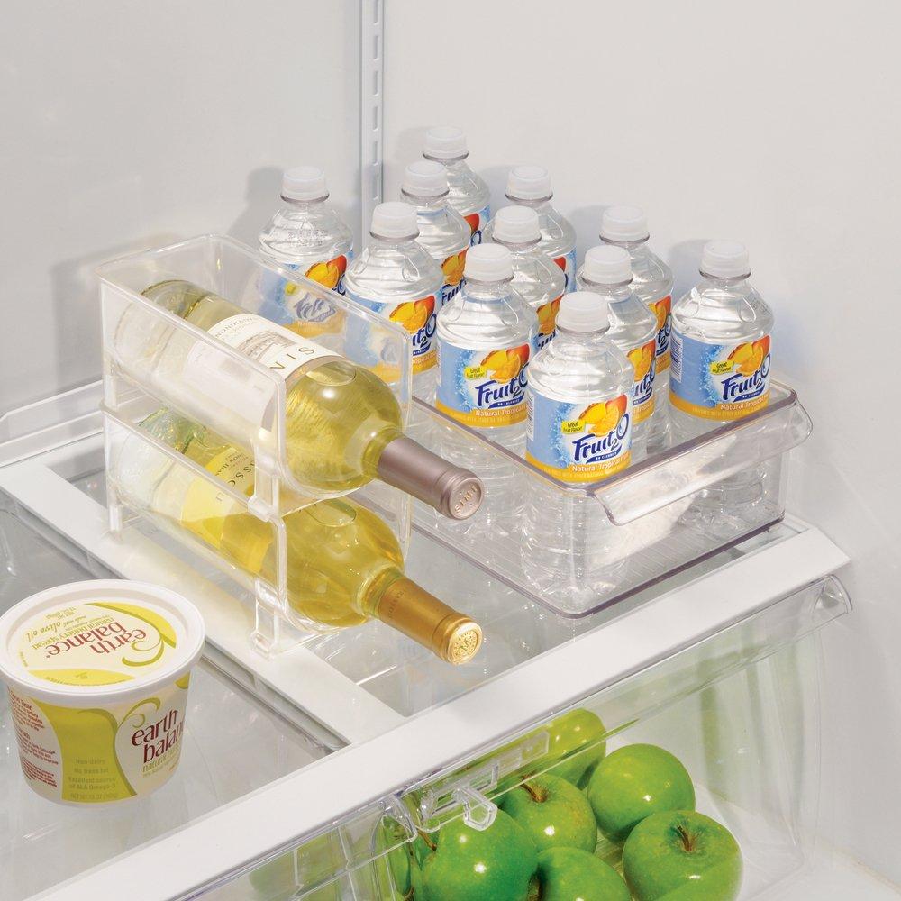 InterDesign Fridge/Freeze Binz Botellero de vino para 1 botella, estante apilable en plástico, botellero para frigorífico, transparente: Amazon.es: Hogar