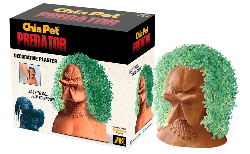 Chia Pet Predator Decorative Pottery Planter, Easy to Do and Fun to Grow, Novelty Gift, Perfect for Any Occasion