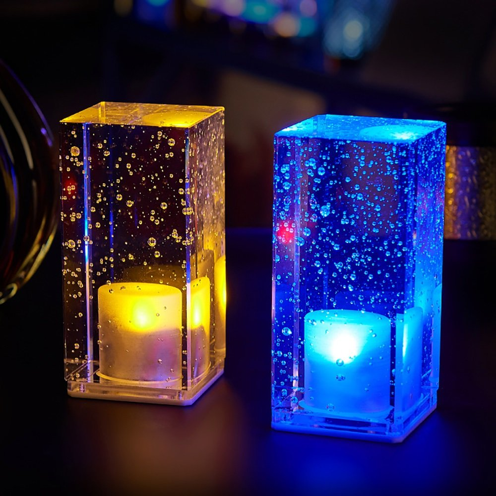 Led Night Lights Bar Nightlight Creative Crystal Table Lamp Ktv Bar Restaurant Light Square Crystal Table Lamp Charging Bar Table Lamp