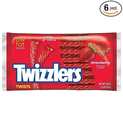 Twizzlers Twists (Fresa, Bolsas de 16 onzas, pack de 6 ...