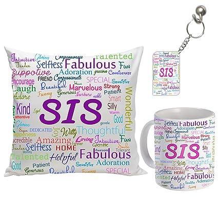 Sky Trends Ceramic Gifts For Sister On Birthday Anniversary And Bhaiya Dooj Multicolour