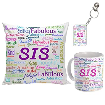Buy Sky Trends Ceramic Gifts For Sister On Birthday Anniversary And Bhaiya Dooj Multicolour Online At Low Prices In India