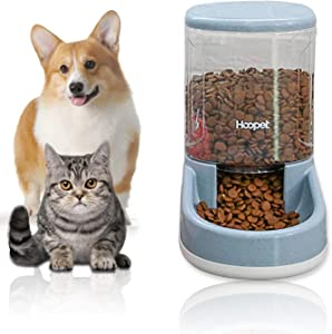LeYoMiao Automatic Pet Feeder Medium and Small Pet Automatic Food Feeder and Drinker Set 3.8 L, Dog Travel Supplies Feeder and Drinker Cat Rabbit Pet Animal