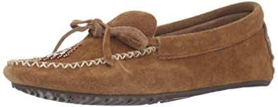 Manitobah Mukluks Women's Canoe Moccasin Suede Moccasin,Copper,5 ...