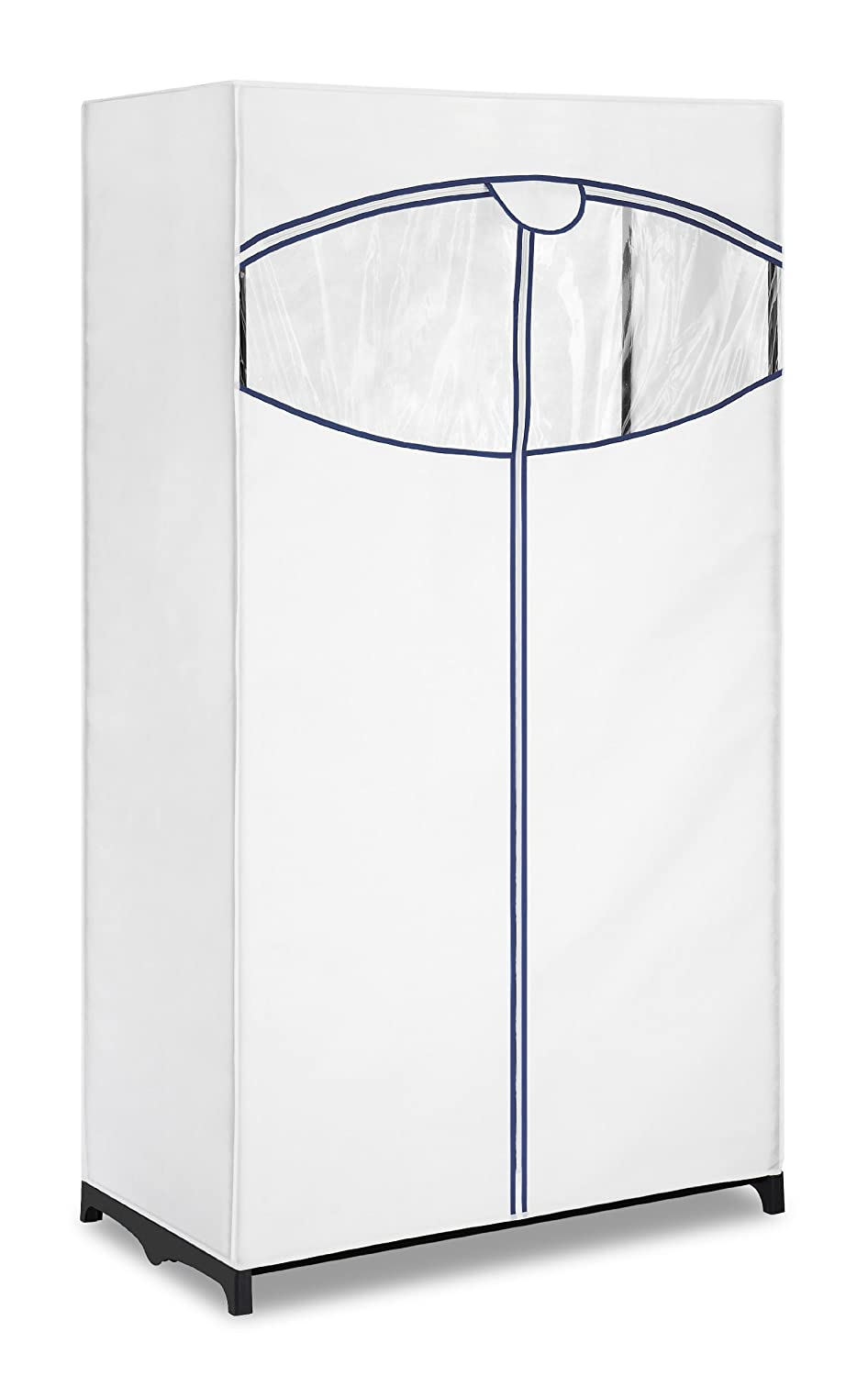 Amazon.com: Whitmor Clothes Closet With White Fabric Cover: Home U0026 Kitchen