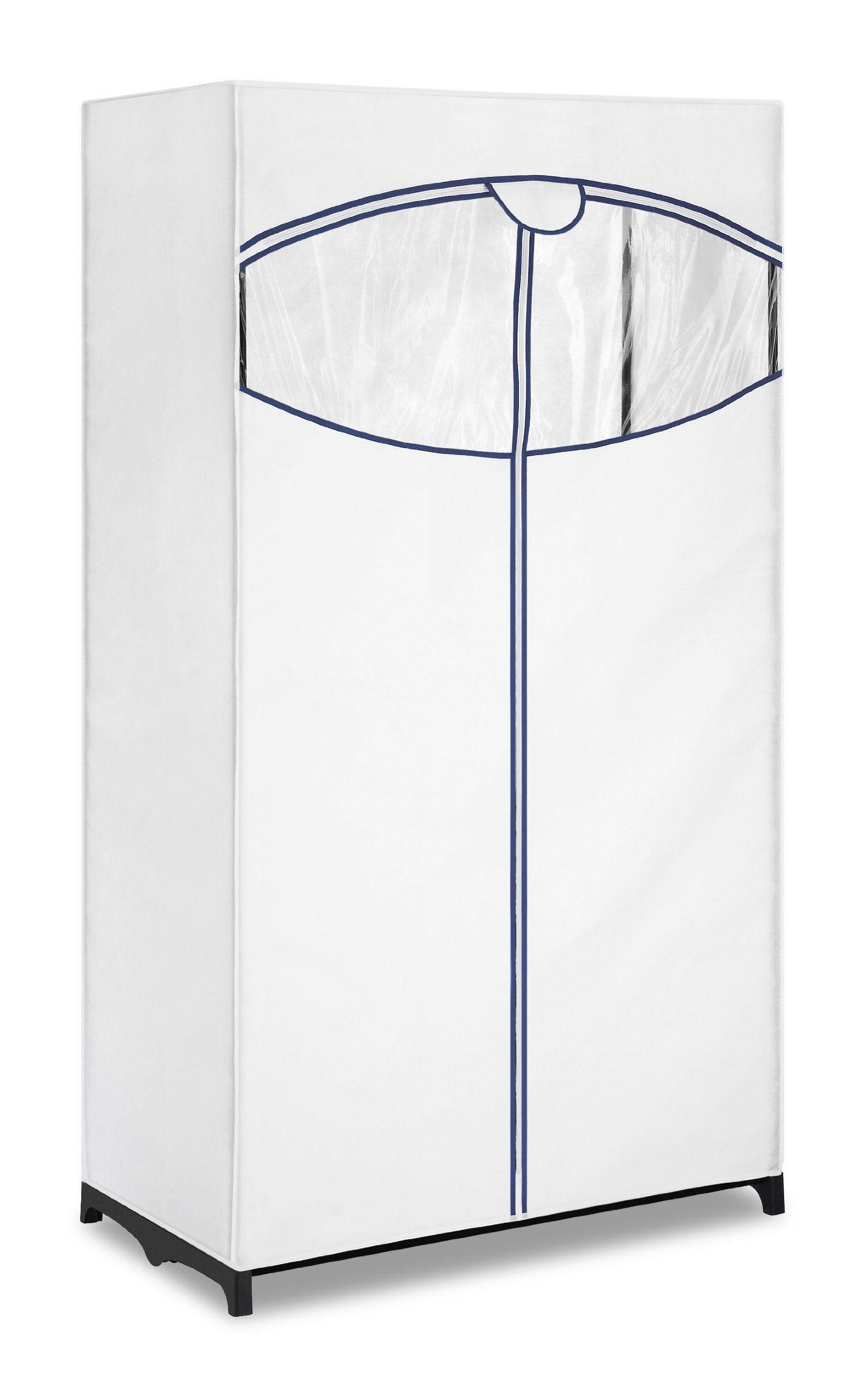 Whitmor, Clothes Closet with white fabric cover by Whitmor