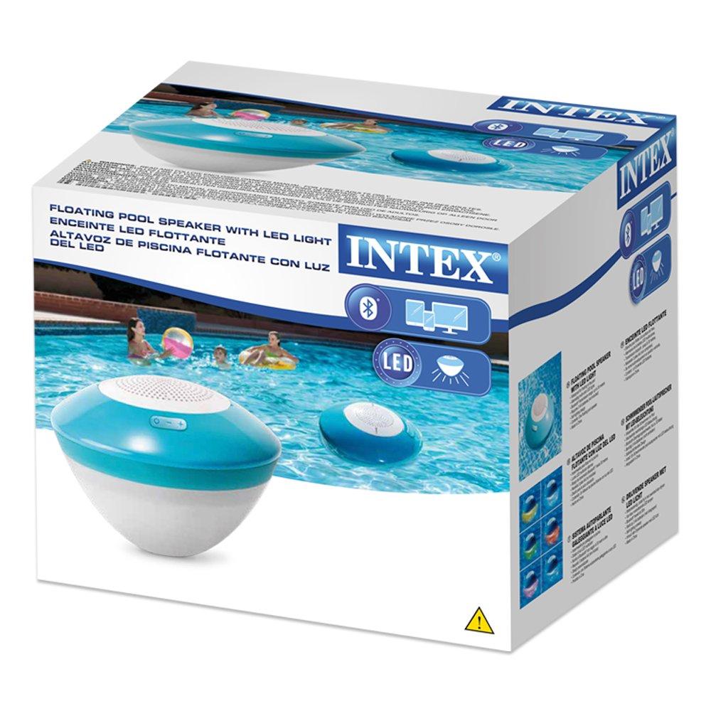 Intex 28625 - Altavoz bluetooth flotante con luces LED de colores: Amazon.es: Electrónica