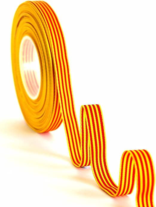 Cinta Bandera Catalana/Aragonesa 10mm: Amazon.es: Hogar