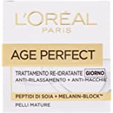 L'Oréal Paris Age Perfect Crema Viso Antirughe Idratante Giorno, Pelli Mature, Anti-Macchie, 50 ml