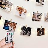 [Remoto & Timer] RECESKY Foto clip Luci di stringa - 40 LED 8.5m luci stringa batteria - cornici fotografiche décor - Per interno, casa, partito, Natale, compleanno, matrimonio, camera da letto
