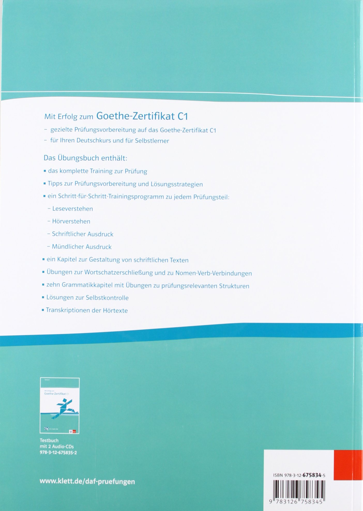 Mit Erfolg Zum Goethe Zertifikat C1 übungsbuch Audio Cd Amazon