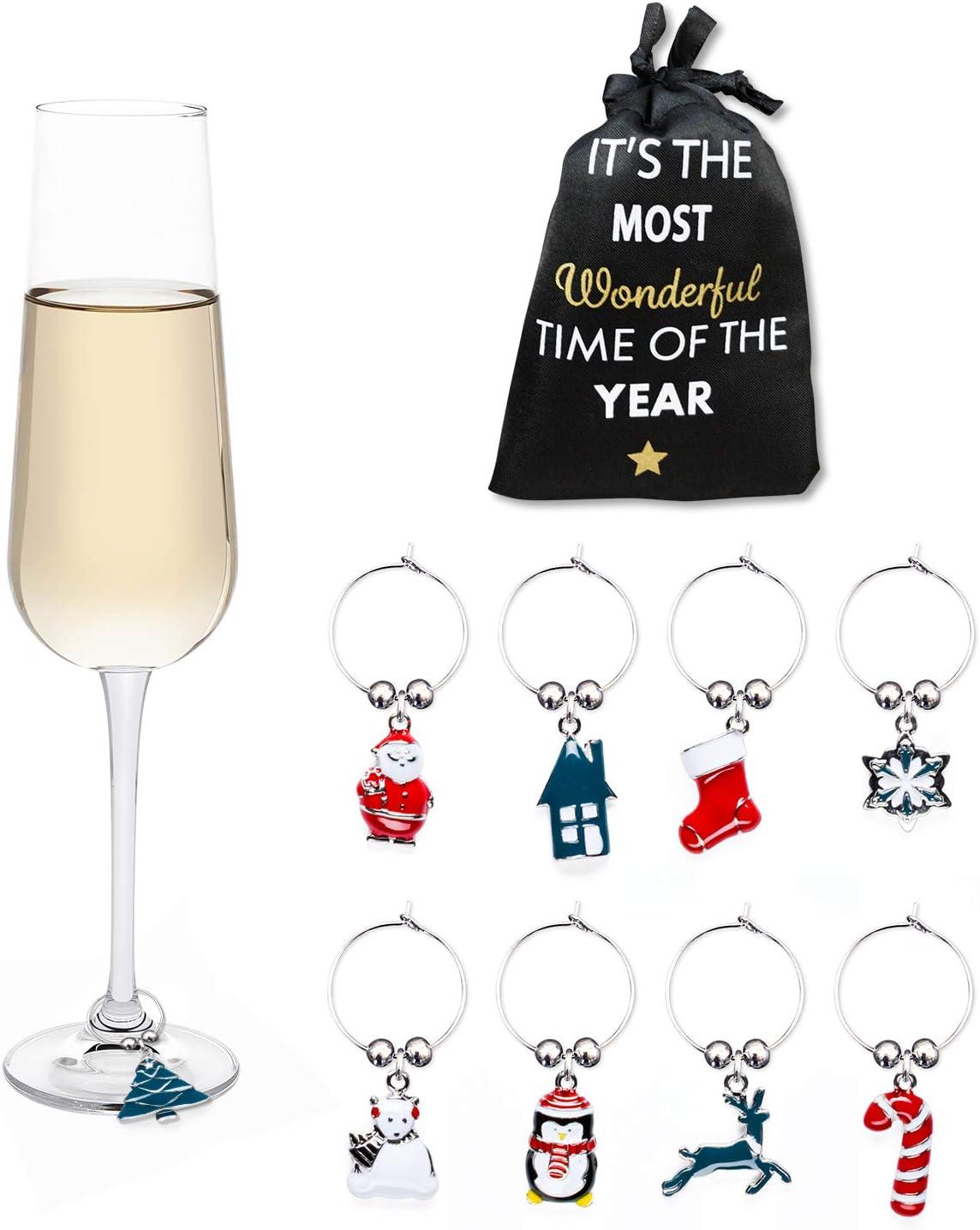 Holiday Lights Christmas Wine Glass Charms
