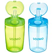 Amazon Brand - Solimo Straw Cup (Pack of 2)