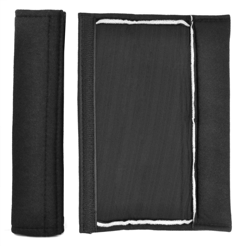 Noir Jzhen Pack de 2 Voiture Ceinture de S/écurit/é Confort Coussinets d/épaule