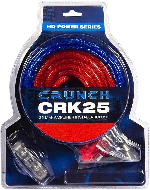 Crunch Crk25 25mm Verstärker Anschluss Set Kabelset 5m Mit Cinchkabel Navigation