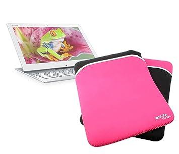 DURAGADGET Exclusiva Funda Reversible De Neopreno Resistente Al Agua Para El Ordenador Portátil Sony Vaio Duo 13 De Color Rosa Y Negro: Amazon.es: ...