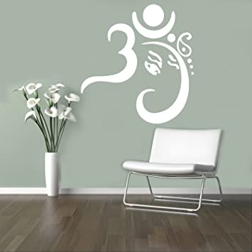 Yoga zen religion wall decal namaste om vinyl sticker hinduism home interior yoga living room decor