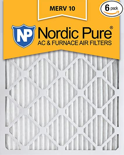 nordic pure 12x20x1 merv 10 pleated ac furnace air filter, box of 6 ...