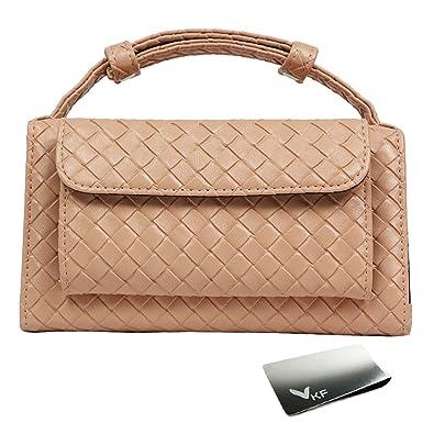 3a308be7651d kilofly Women s Genuine Leather Clutch Wallet Crossbody Purse Bag + Money  Clip