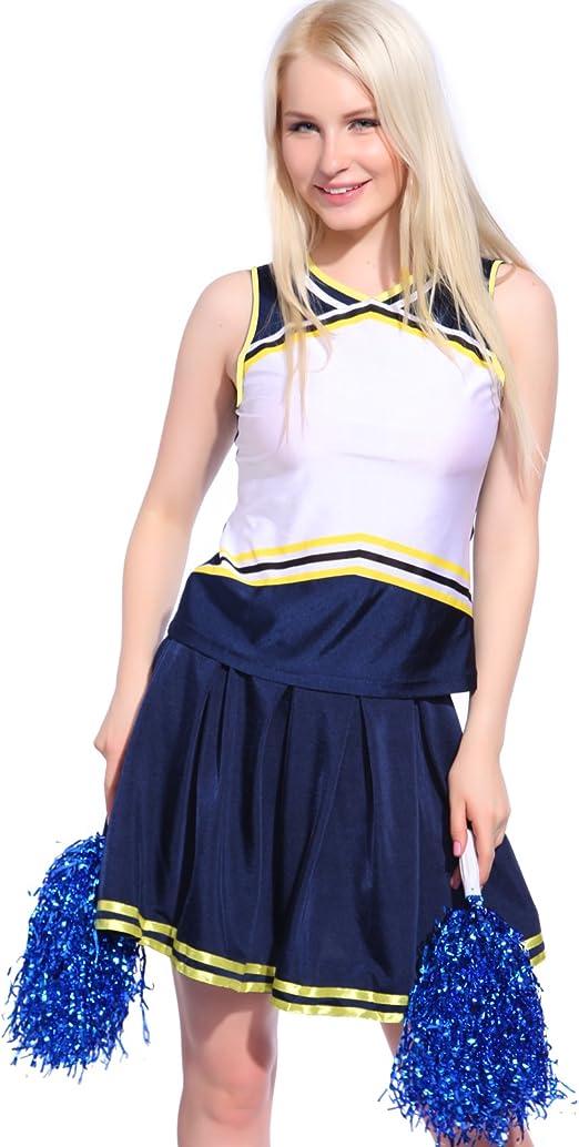 Disfraz de Animadora Traje de High School Cheerleader para Adulta ...