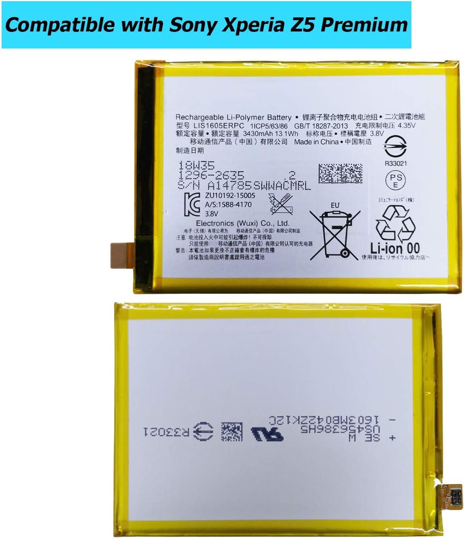 Upplus Lis1605erpc Batería De Repuesto Compatible Con Sony Xperia Z5 Premium E6853 Z5 Premium Dual E6883 Con Kit De Herramientas Amazon Es Electrónica