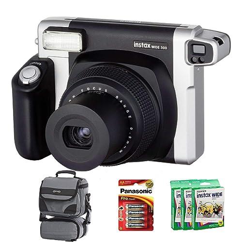 Allcam Bundle Fuji Instax 300 Wide Instant Camera +30-Shot Wide Film + Smart Carry Case + Panasonic Gold Batteries