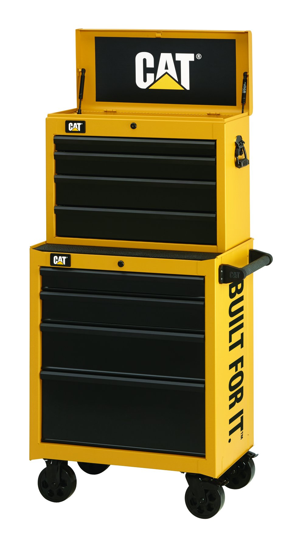 Cat 9-Drawer Ball-Bearing Tool Chest and Cabinet Combination, 26'' W - Designed, Engineered and Assembled in the USA by Cat Tool Storage