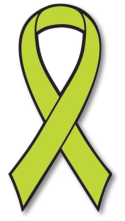 Amazon Lime Lymphoma Cancer Awareness Ribbon Car Magnet Decal