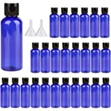 Travel Bottles ,3oz Plastic Small Squeeze Bottles Leak Proof Silicone Travel Size Containers With Flip Cap and Funnels…