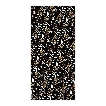 ezon-ch moderno Navidad plants on negro toalla de mano baño toallas de ducha de
