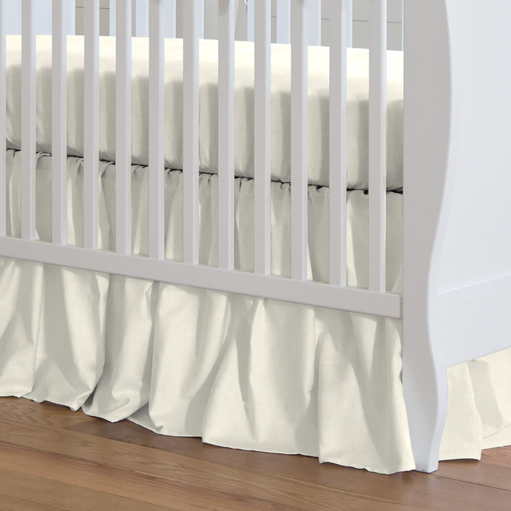 Carousel Designs Solid Ivory Crib Skirt Gathered 20-Inch Length by Carousel Designs
