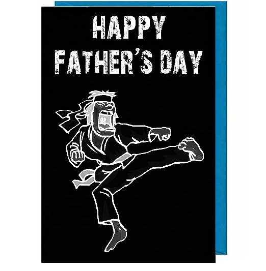 Tarjeta de felicitación para el día del padre - Karate ...