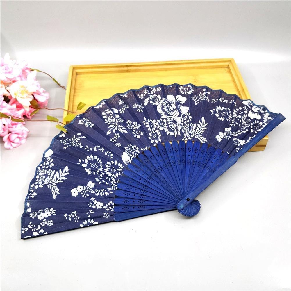 Soie Pliant Ventilateur Chinois Style Eventail de Poche en Bambou et en Tissu - Fan de Soie de Dentelle de Style Espagnol de Fête de Mariage de Danse Ventilateur tingtin