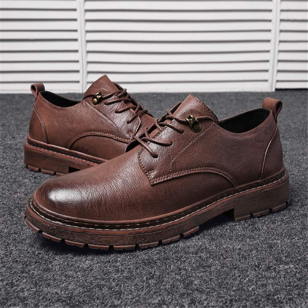 0560194ff68 XHD-Chaussures Simple Mode Oxford Casual Simple Chaussures Ultra- Confortables et Confortables à Lacets pour Hommes ...