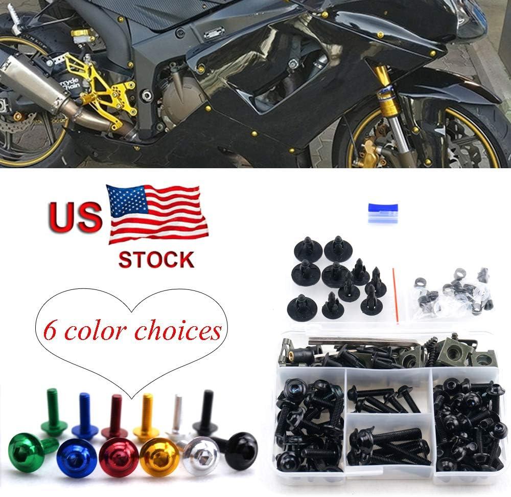 Motorcycle Complete Fairing Bolt Screw Kit For Kawasaki NINJA EX500 EX 500 GPX500 GPX 500 500R 500 R 1994-2009