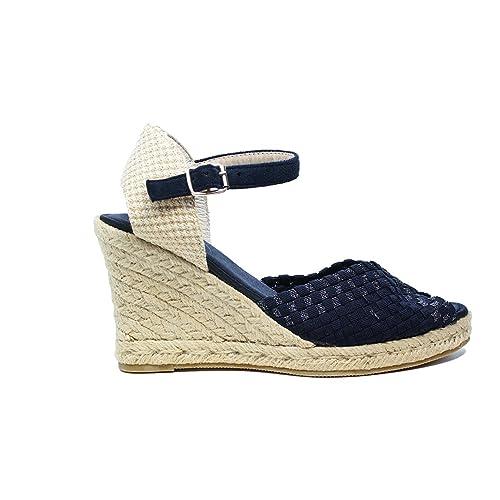 Sandalo Spuntato Nuova Collezione Elastico Corda 70 Blu WozUp361 QoWCBerdx