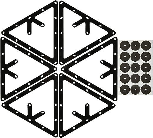 عبوة من 6 قطع من حامل كرات سحري احترافي لالبلياردو مع نقاط تحديد لطاولة حمام السباحة للرف 8 و9 و10 كرات كومبو وسنوكر